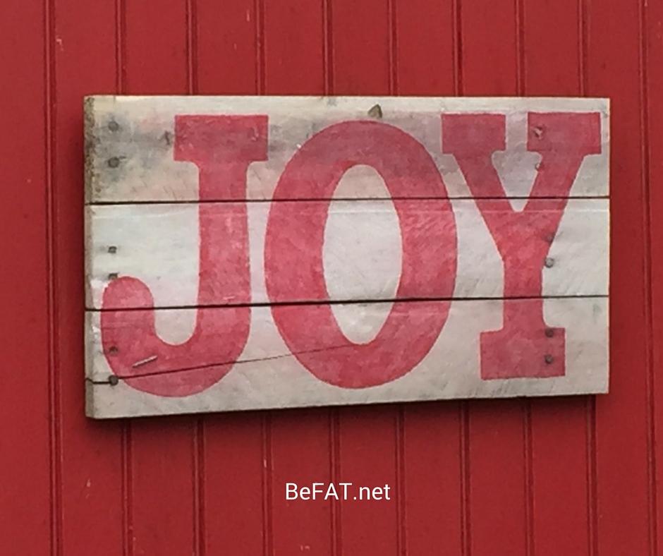 Painted Wood Sign JOY www.befat.net