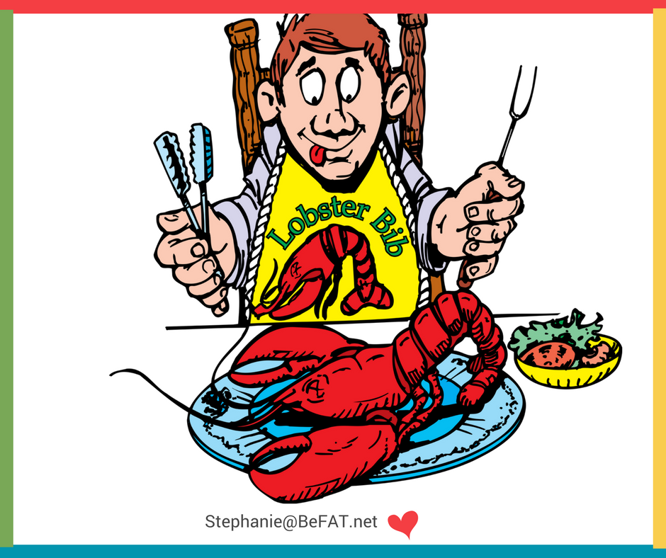Cartoon of man ready to eat a lobster.jpg