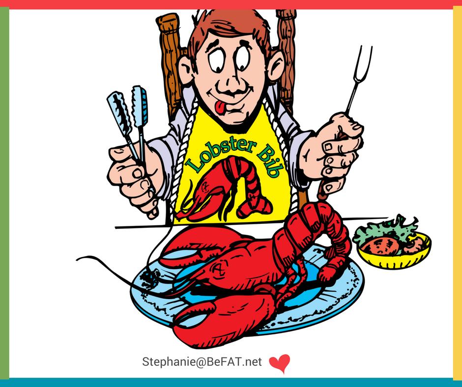 Cartoon of man ready to eat a lobster.jpg